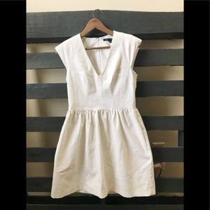 French Connection fit and flare white dress 8